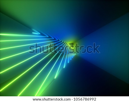 3d rendering, modern abstract geometric background, minimalistic shining empty showcase, art deco, primitive architecture shapes, shop display, glowing edges, vivid colors