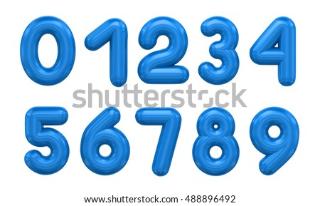 3d rendering number on a white background #488896492