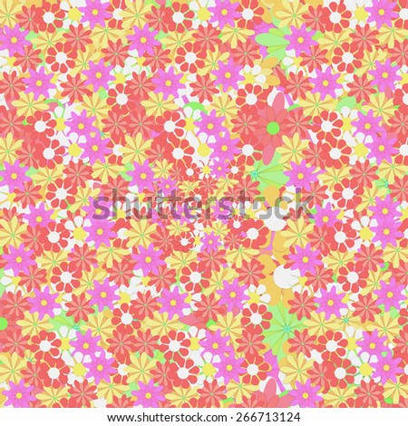 3d rendering of a background with a lot of colored flowers