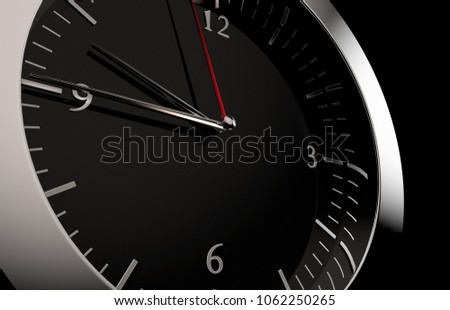 3D rendering of a close up to a clock