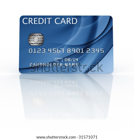 3d rendering of a credit card