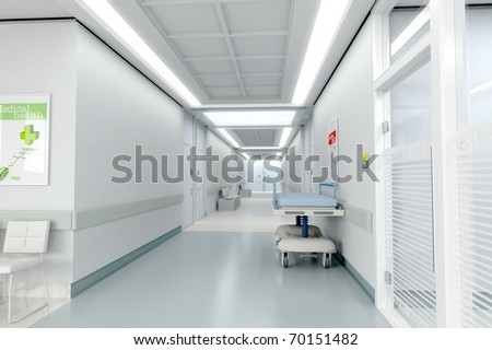 3D rendering of a hospital interior