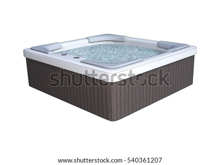 3D rendering of a hot tube isolated on white background