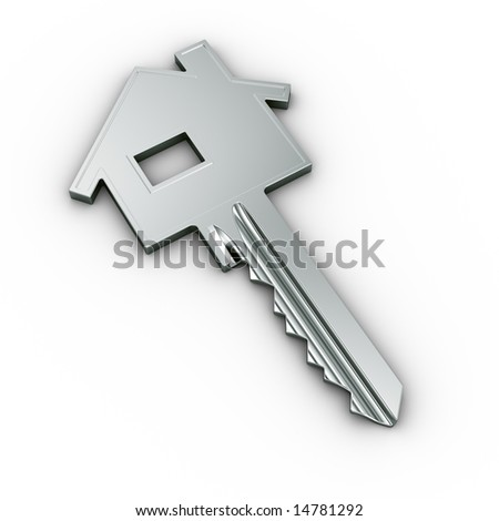 3d rendering of a house key