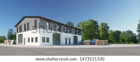 3d rendering of a industrial building