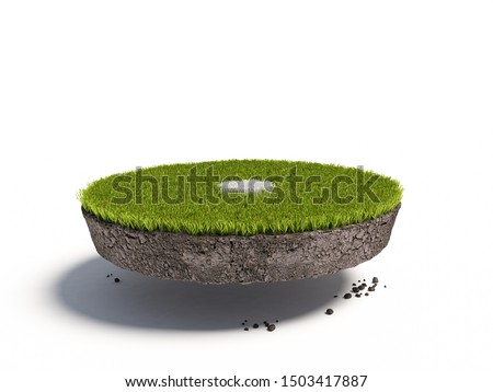 3d rendering of a isolated penalty spot
