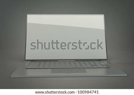 3d rendering of a laptop  High resolution.