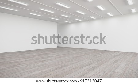 3D rendering of a light exhibition hall.