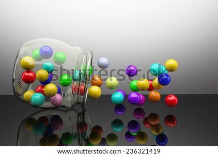 3d rendering of a lot of colored balls #236321419