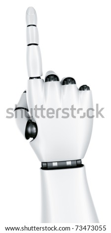 3d rendering of a robot hand