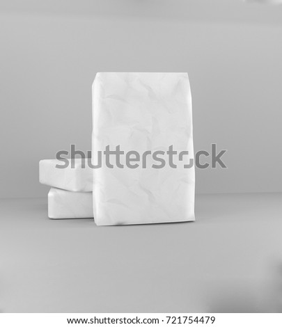 3d rendering of a sack of cement #721754479