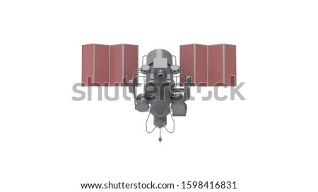 3d rendering of a satelite isolated on white background