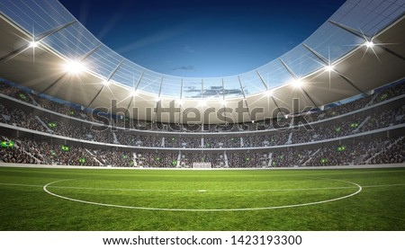 3D rendering of a soccer stadium