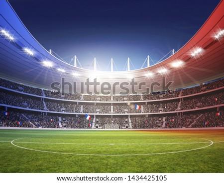 3d rendering of a soccer stadium