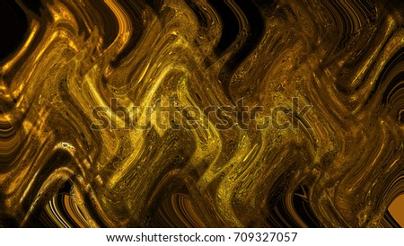 3d rendering of a splash of gold #709327057