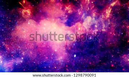 3D rendering of a stellar nebula and cosmic dust, cosmic gas clusters and constellations in deep space.  Elements of this image furnished by NASA