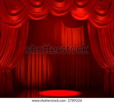 3D rendering of a theatrical stage, ideal for exhibiting the object of your choice.