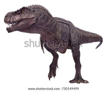 3D rendering of a Tyrannosaurus Rex walking.