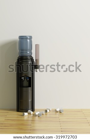 3d rendering of a water dispenser in an office #319972703