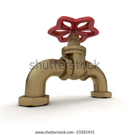3D rendering of a water valve