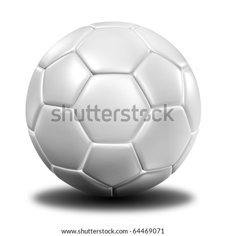 3d rendering of a white football. ( Leather texture )