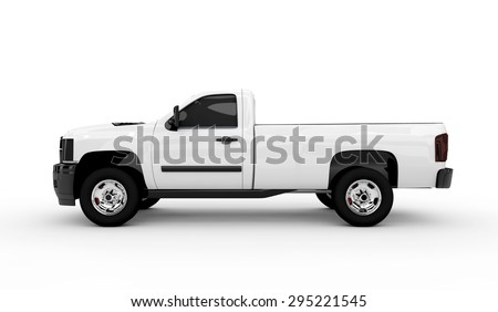 3D rendering of a white van isolated