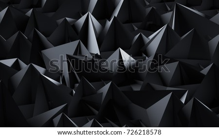 3D Rendering Of Abstract Dark Background