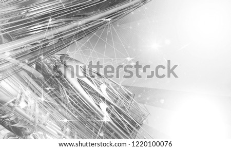 3D rendering of abstract digital technology background #1220100076