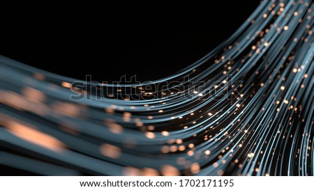 3D Rendering of abstract fast moving lines. High speed motion blur. Concept of leading in business, Hi tech products, business plan, goals and achievement, advanced technology evolution