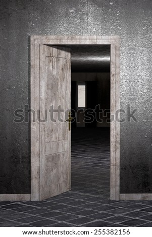 3d rendering of an abandoned and dirty room
