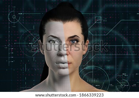 3d rendering of an avatar representing technology and artificial intelligence Сток-фото ©