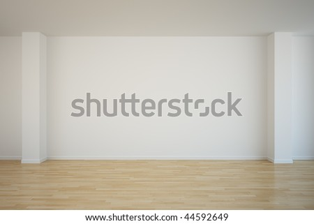 3d rendering of an empty room