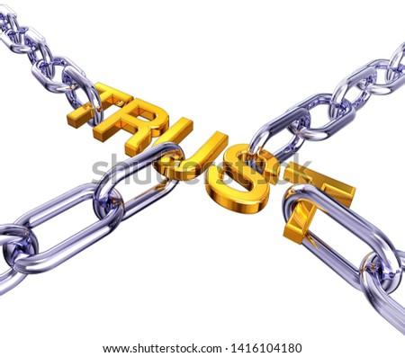 3D rendering of an trust concept