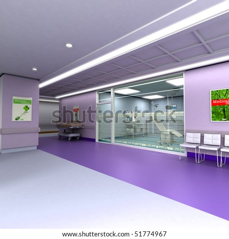 3D rendering of an upscale modern clinic