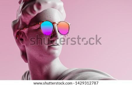 3d rendering of apollo style design background vaporwave concept. Zdjęcia stock ©
