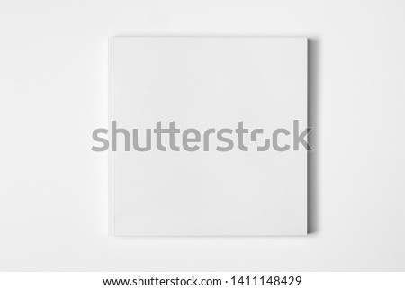 3d rendering of blank white paper against white wall #1411148429