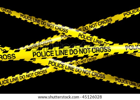 3d Rendering of Caution Tape