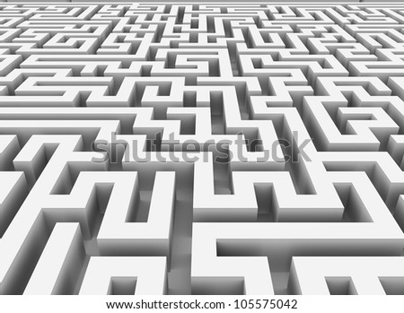 3d rendering of endless maze