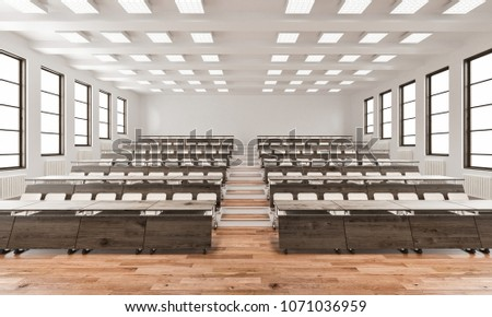 3d rendering of Front View of a Lecture Hall