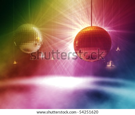 3d rendering of gold and silver Disco Balls