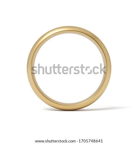 3d rendering of gold ring isolated on white background. Digital art. Gifts and celebrations. Love and relationship. Photo stock ©