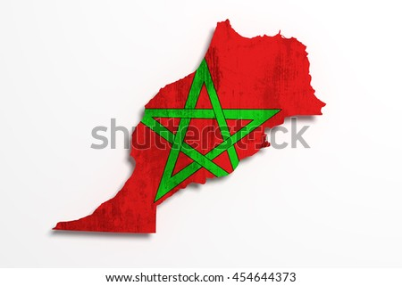 3d rendering of morocco map and ...