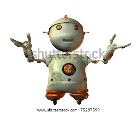 3D rendering of old friendly robot