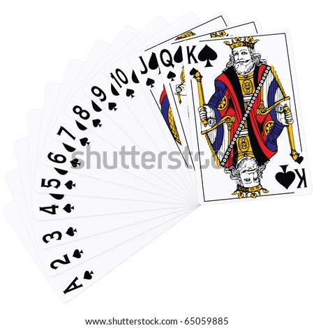 3d Rendering of Playing Cards - Spade Suite