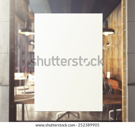 3d rendering of poster on window