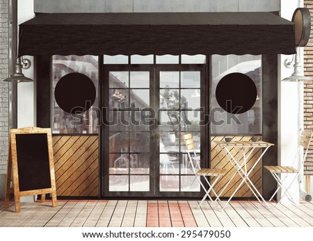 3d rendering of restaurant facade