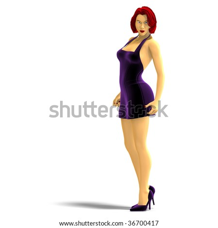 stock photo  d rendering of sexy cartoon girl with clipping path and shadow over white 36700417 simonefiasco: THE ELUSIVE FEMALE ORGASM if you've ever seen a porn you know