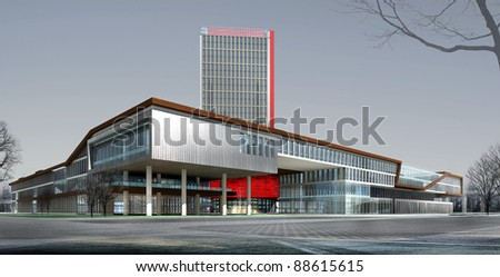 3d rendering of the building