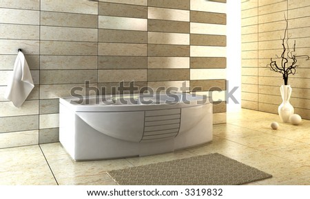 3d rendering of the modern bathroom