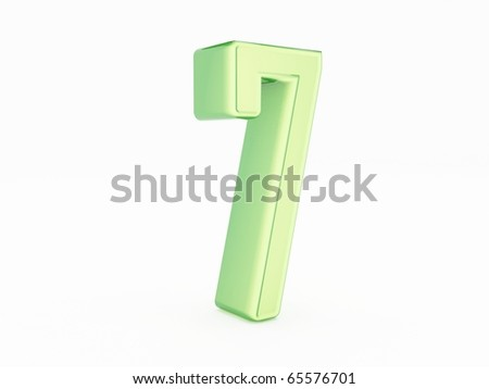 3d rendering of the number 7